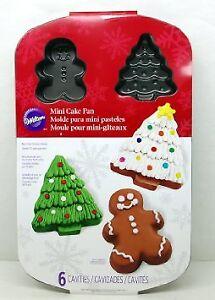 Christmas Mini Cake Pan with 6 Cavities - BRAND NEW