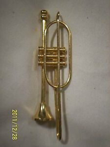Goldtone TROMBONE Pendant USA Estate