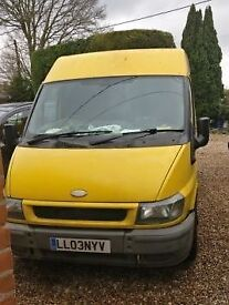 Ford Transit Van. swb.yellow. mot 30.05.18. tatty but reliable spares or repairs