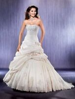 NEVER BEEN WORN - PLUS SIZE Eddy K Ivory Wedding Dress