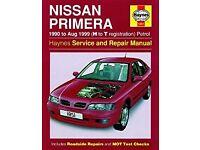 Haynes Owners Workshop Manual for Nissan Primera 1990 to Aug 1999