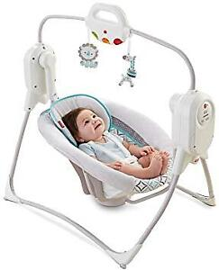 Fisher-Price Twinkling Lights SpaceSaver Cradle & Swing for Sale