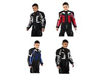 Kids motorcycle jackets and trousers and gloves from 5-13 years old
