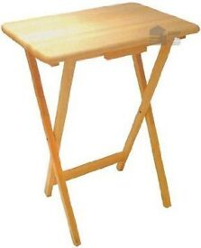 Anika Rubberwood Folding Wooden TV Table