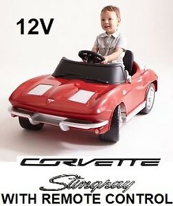 NEW KALEE 1963 CORVETTE STINGRAY 12V RIDE-ON WITH REMOTE CONTROL
