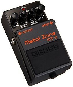 Selling a Boss MT-2 Distortion pedal with PSA-120S AC Adaptor!