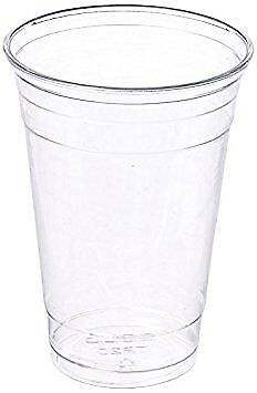 100 Sets 20 Oz Plastic Clear Cups With Flat Lids For Iced Coffee Bubble Tea