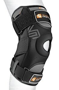 Shock Doctor Knee Support with Dual Hinges, Black, X-Large