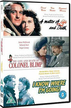 DVD:MATTER OF LIFE AND DEATH / COLONEL BLIMP / I KNOW WHERE - NEW Region 2 UK