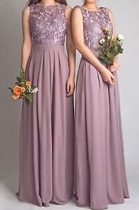 Rustic pink/purple wedding decs, 4 lavender bridesmaid dresses