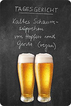 Tagesgericht Bier Blechschild Gewölbt Neu  20x30cm S4955