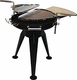 La Hacienda Cordoba Twin Grill Charcoal BBQ Firepit barbecue