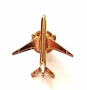 Collectible Gold Plated Airplane Lapel Pin - Set of Four: Airbus A321, A330, A340 and Boeing 777 - Tie Pin BADGE.