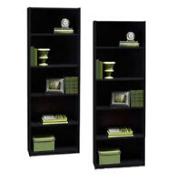 Tall black 5 shelf bookcase