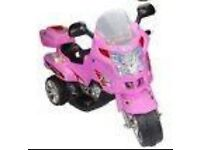 Kids pink electric scooter