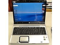 24/10/17 HP PAVILLION DY9000 WITH WINDOWS 7 HP WEBCAM VERY GOOD LAPTOP GREAT CONDITION BARGAIN £100