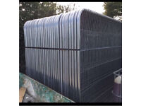 *New* 3.45 X 2M Heras Style Temporary Security Metal Round Top Fence Panels