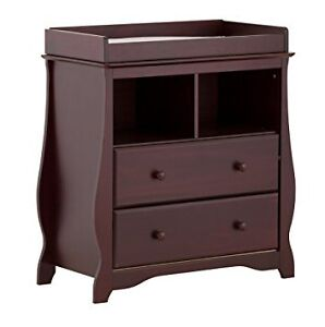 Stork Craft Carrara 2 Drawer Change Table, Cherry