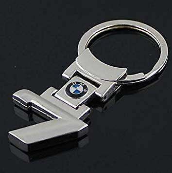 BMW 7 Series Style Metal Car Logo Key Ring Key Chain Keyfob Genuine US -