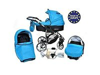 Baby Pram Pushchair 3in1 Alivio Travel System Buggy Car Seat+Covers