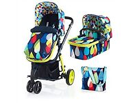 Cosatto travel system £200 pram/pushchair/car seat and bag
