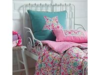 Two beautiful cushions, BRAND NEW suitable for styling a girls bedroom. Camengo fabric.