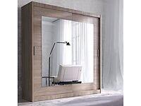 Modern Bedroom Wardrobe Sliding, Mirrored Doors, needs strategic moving!