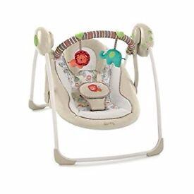 Bright starts cosy kingdom portable baby swing ** Next to NEW**