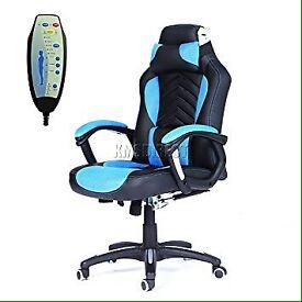 Fox hunter luxury 6 reclining massage office chair