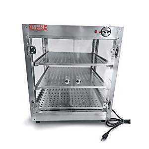 "Commercial countertop pizza warmer display case 24""×24""×24"""