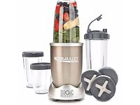 Champagne Nutribullet Pro 900 series blender with accessories and books - Open to offers