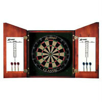 Union Jack Dartboard Cabinet and Set luxury set wood NEW