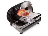 Andrew James Electric PrecFood Slicer 19cm Blade + Includes 2 Extra Blades For Bread and Meat