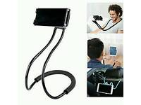 New Lazy Neck Phone Holder Mount Black