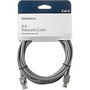 Insignia NS-PNW5608-C 2.4m (8ft.) Cat6 Network Cable (Open Box)