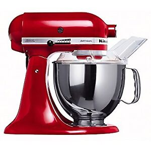 Red KITCHEN AID Artisan food processor + attachments