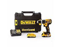 New in Hard Tstak II case DeWALT DCD796D2 Combi Brushless Drill 18v 2x 2Ah Li-ion Battery