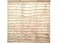 40 new waney edge fence panels 6' x 6'