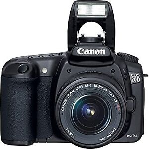 Lightly USED Canon EOS 20D DSLR Camera with EF-S 18-55mm f/3.5-5