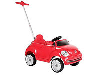 Ride in/Push Along Child's Red VW Toy Car with Handle.