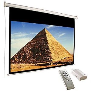 """119"""" Diagonal Accuscreens 16:9 Electric Wall Ceiling New in Box"""