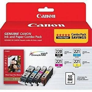 NEW CANON 220  221 INK CARTRIDGES Canon® PGI-220/CLI-221 Black/Colour 105940871