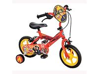 Fireman Sam toddler bike with stabilizers