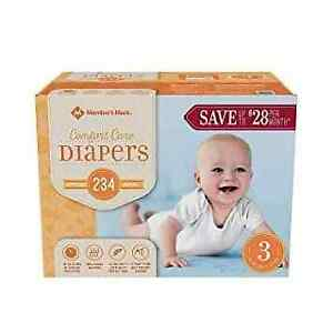 Size 3 diapers, Box of 234