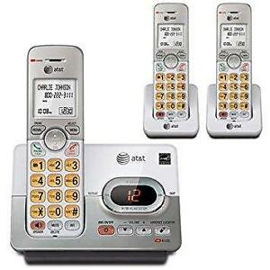 AT&T 3 Handset Cordless Phone Answering System
