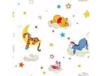 Disney winnie the poo rise and shine wall paper new still in wraper size of roll 10+0.52m
