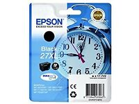 2x Epson Alarm Clock 27 XL Black Ink Cartridge