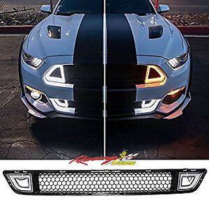 2015-2017 Mustang  LED DRL Signal light Front Upper Lower Grille