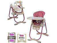 Chicco Polly Magic Rose highchair from birth