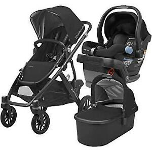 Uppababy Vista Stroller-bassinet.... car seat +adapter . 3 in1 .